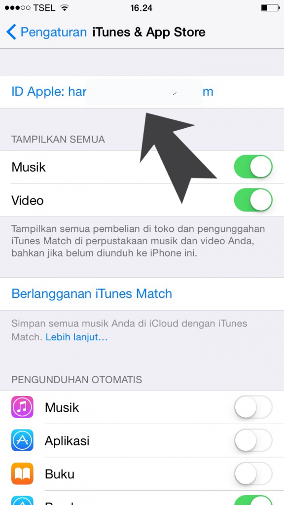 cara memasukkan Apple ID ke iPhone