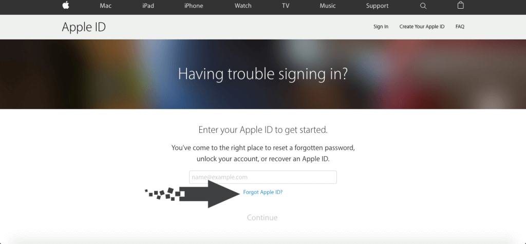 cara reset username apple id