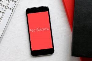 sinyal iphone searching terus