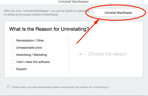 cara uninstall mackeeper